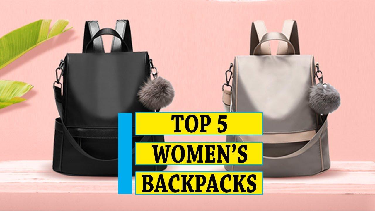 Women's Backpack: Best 5 Women's Fashion Backpacks in 2020   Buying Guide -  YouTube