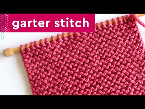 Knitting Lessons : How to Knit the GARTER STITCH: Knitting Lessons for Beginners ...