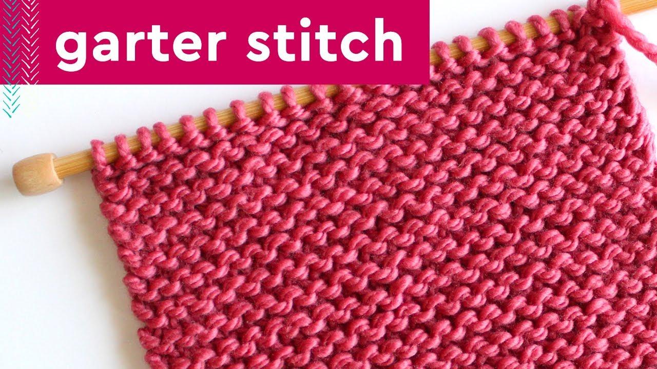 GARTER Knit Stitch Pattern