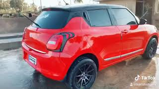 New Swift 2018 Modified Mag Wheels And Roof Painting