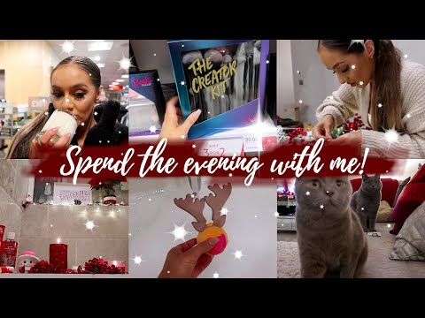 SPEND THE EVENING WITH ME -- Christmas Shopping, DIY Wreath & Gift ideas! - 동영상