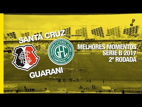 Melhores Momentos - Santa Cruz 2 x 1 Guarani - Série B - 20/05/2017