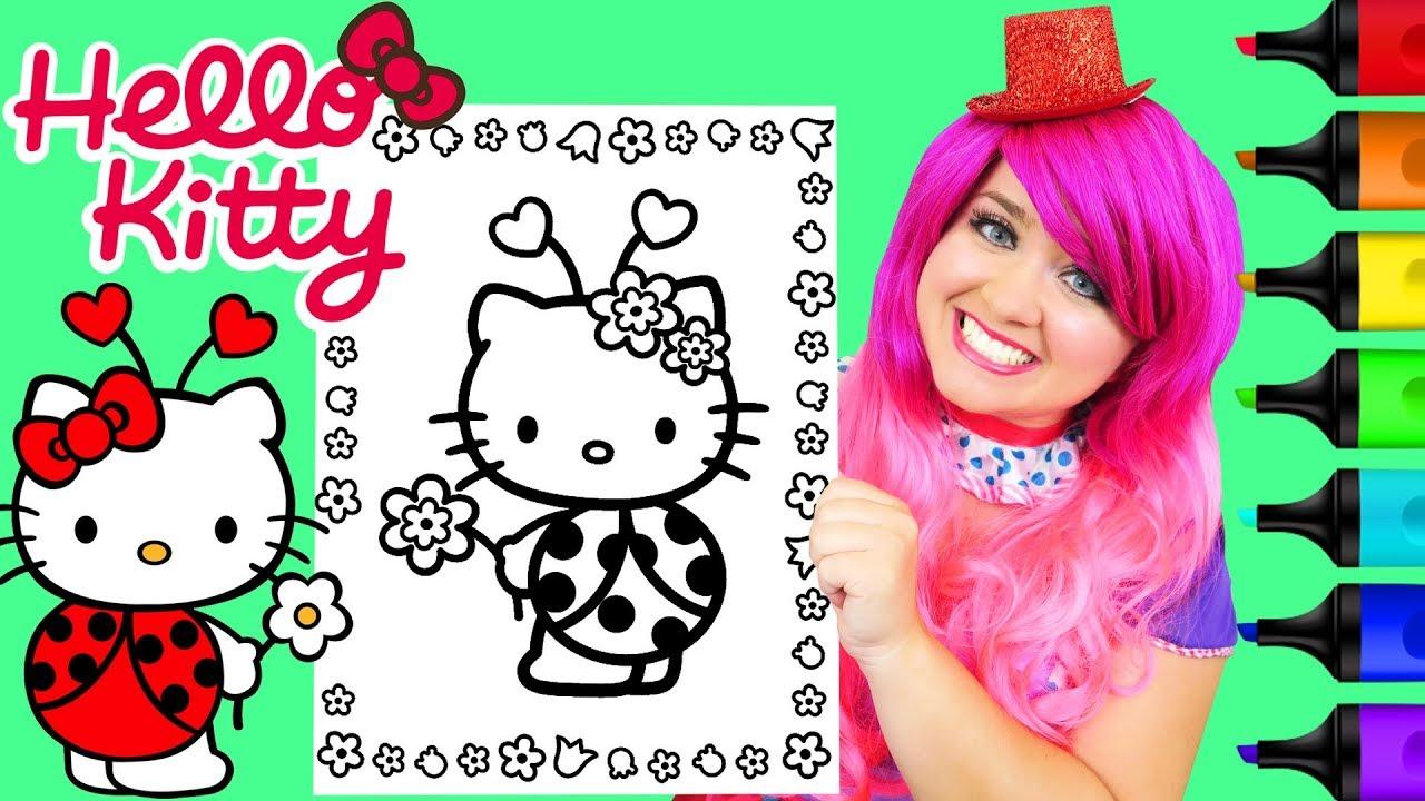 Coloring Hello Kitty Ladybug Sanrio Page Prismacolor Markers