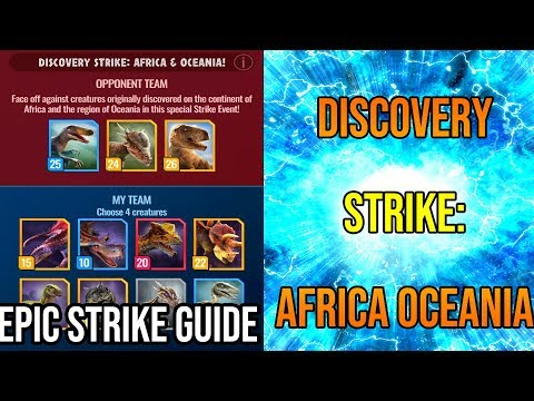 How To Beat the Africa Oceania (but actually North American) Epic Strike! | Jurassic World Alive