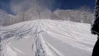 2018/1/3 夏油スキー場 快晴のツリーラン