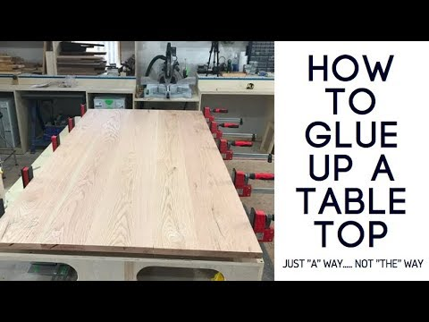 How To Glue Up A Table Top