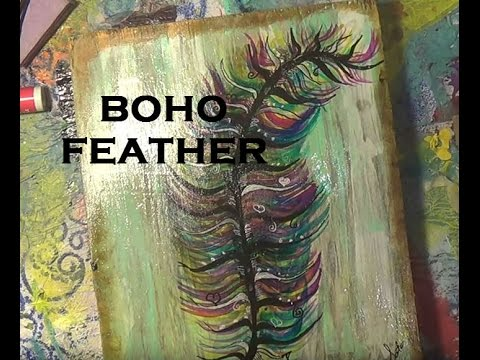 painting a feather free style