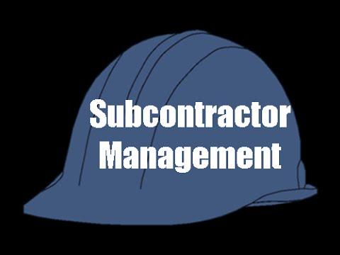 Subcontractor training subcontractor tutorials online Find subcontractors