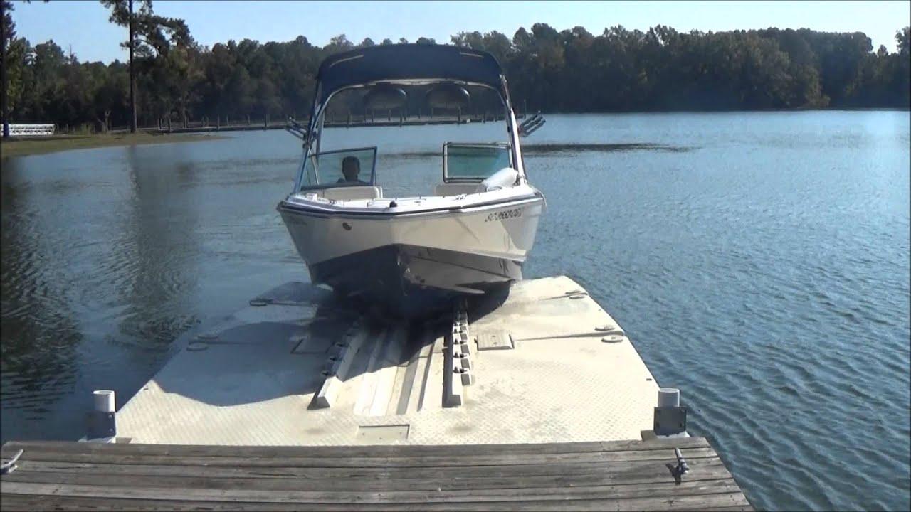 ボートリフトのフローティングボートドックドライブ-5000ポンドリフト-YouTube