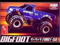 How to Build the Bigfoot Ford F-150 Monster Truck 1:32 Scale AMT Model Kit #805 Review