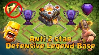 TOWN HALL 11 (TH11) ANTI 2 STAR LEGEND BASE 2017 WITH REPLAY 2017 | CLASH OF CLANS
