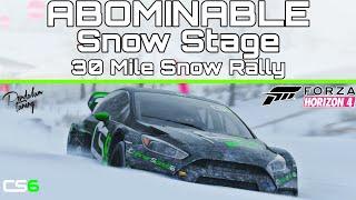 Abomidable Snow Stage - 30 Mile Snow Rally! - Forza Horizon 4