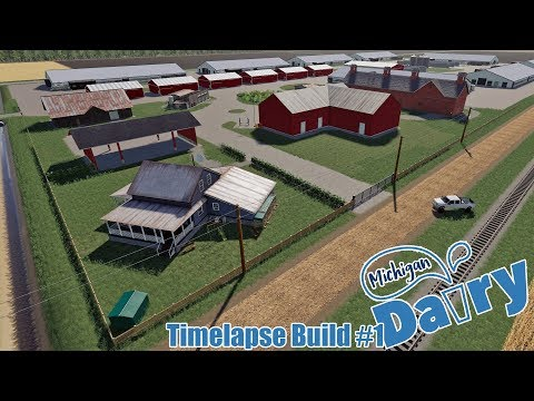 michigan-dairy-farm-build---timelapse-#1---fs19---no-save-file