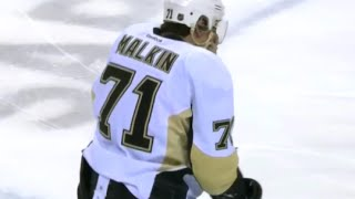 Malkin Takes a Butt End to the Face from Joel Ward