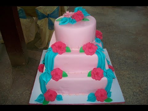 pictures of blue and pink wedding cakes pink and turquoise blue wedding cake flv 18392