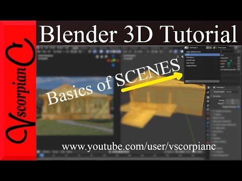 Blender 2.8 Tutorial | #7 | Basics of Scenes for Beginners by VscorpianC thumbnail