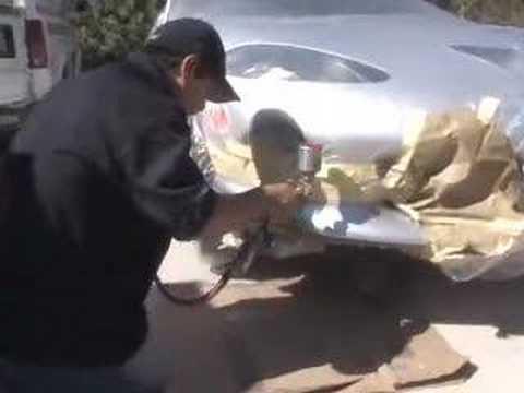Mobile Plastic Bumper_Paint Scratch Repair_Fix Dent Video