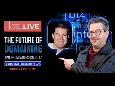 The Future of Domain Names - Joel.LIVE with Marc Gawith
