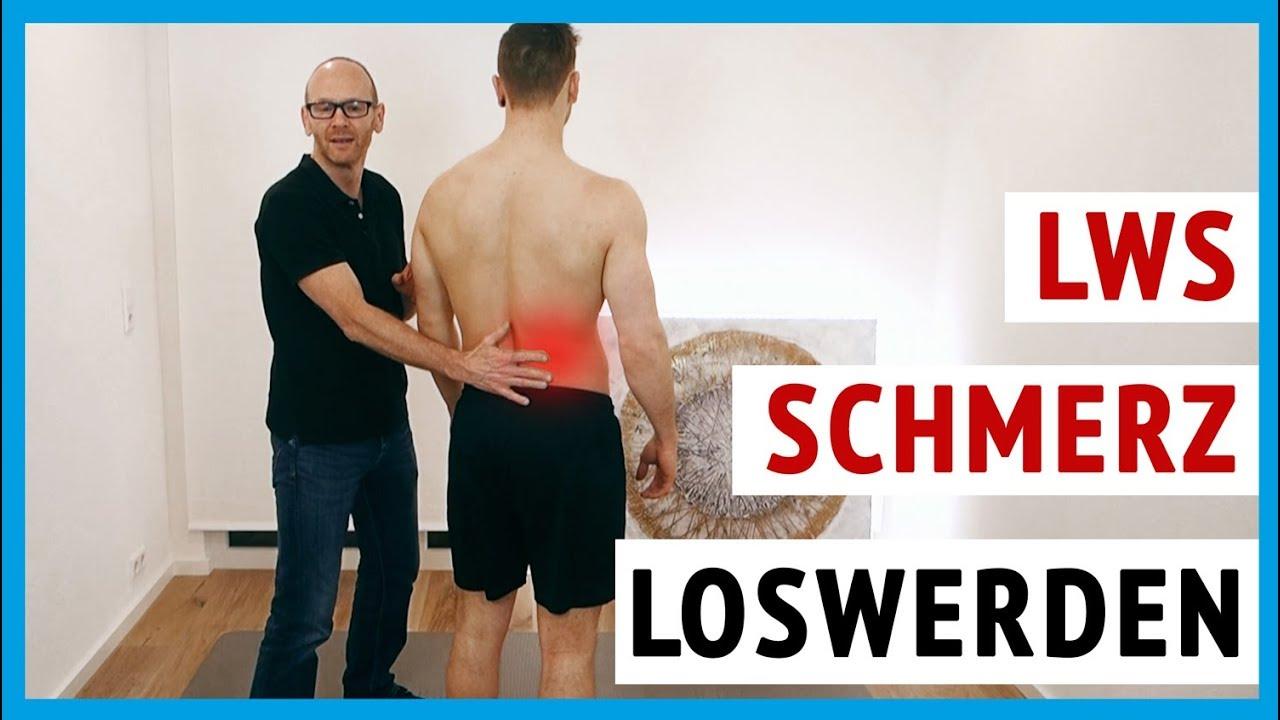 Schmerzen im unteren Rücken (Lendenwirbelsäule)