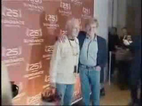 Robert Redford and Paul Newman at the 25th sundance celebration