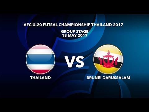 #AFCU20FC THAILAND 2017 - M27 Thailand vs Brunei Darussalam - Highlights