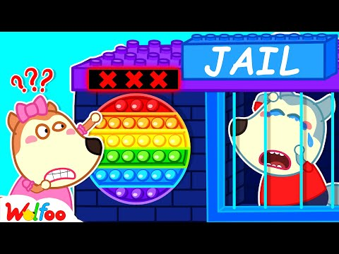 Wolfoo Plays Pop It Challenge With Colorful Lego Jail - Wolfoo Learns Colors for Kids  Wolfoo Family