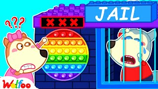 Download Wolfoo Plays Pop It Challenge With Colorful Lego Jail - Wolfoo Learns Colors for Kids |Wolfoo Family