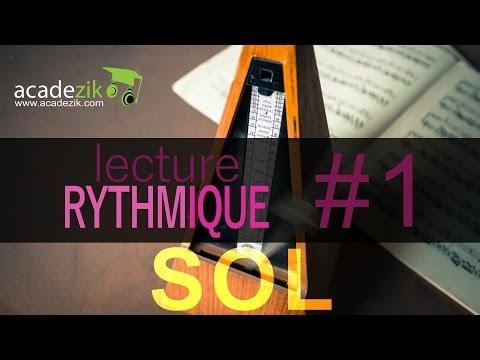 Apprendre à lire les notes de musique en rythme - Partition Clé Sol Exercice 1 (vidéo solfège)