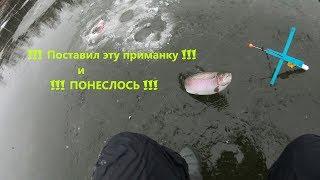 Рыбалка на ФОРЕЛЬ !!! ПЕРВЫЙ ЛЕД !!! Поставушка на ФОРЕЛЬ  МОНТАЖ