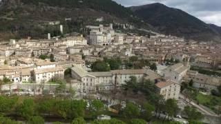 Italy Gubbio (PG) vista Drone