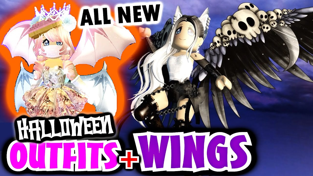 [VIDEO] - BUYING ALL HALLOWEEN WINGS +? FREE OUTFITS IDEAS! ? 100,000 DIAMOND SPENDING SPREE ? ROYALE HIGH 2