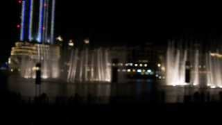 HD The Dubai Fountain Water & Light Show - Arabian Song Version Burj Khalifa Dubai Mall UAE