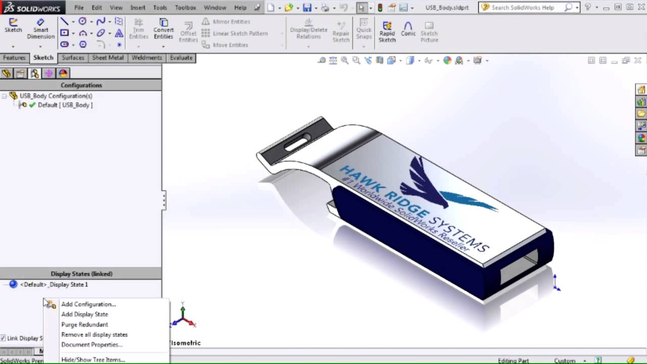 SOLIDWORKS - Showing Decals in Drawing Views using a Non-shaded Display  Style