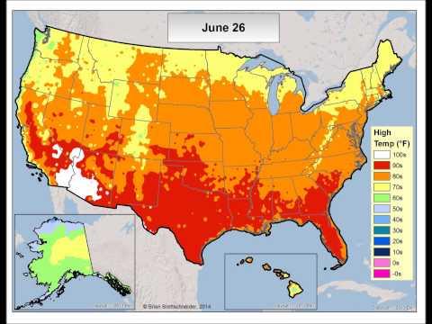 U.S. Normal High Temperatures
