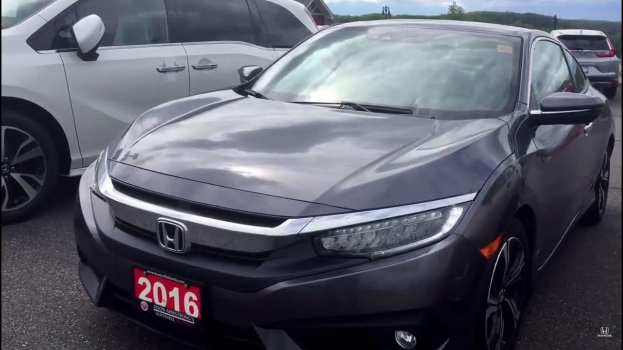 2016 Honda Civic Touring Coupe Grey