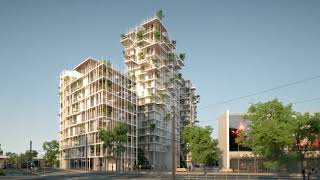 Future Bordeaux - Wooden Mixed-Use Tower by Sou Fujimoto and Laisné Roussel Propose