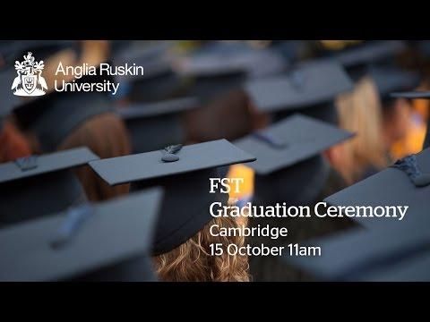 FST Graduation, Anglia Ruskin University, Thursday 15 October 2015, 11AM Ceremony, Cambridge