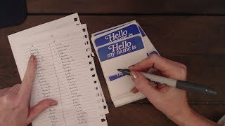 ASMR Whisper ~ Writing Name Tags / Marker Sounds