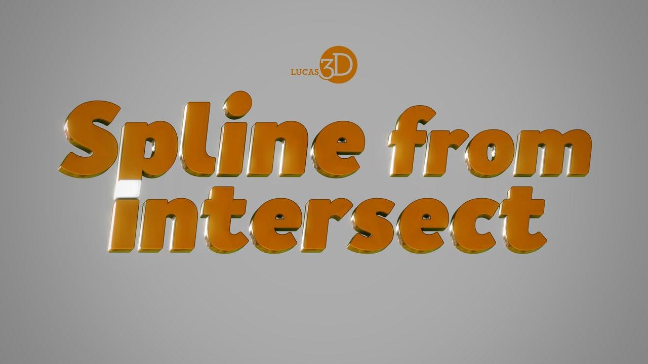Free 3ds Max script: Spline from Intersect.