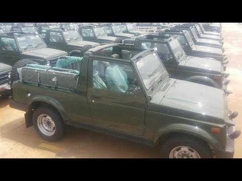 Indian army receives newly produced Maruti Gypsy 4x4 vehicles