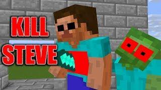 Monster School : KILL STEVE CHALLENGE - Minecraft Animation