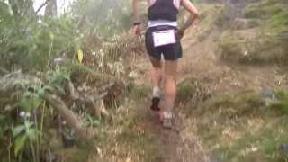 Kilian Jornet en haut du Maïdo...au Grand Raid de la Réunion 2013 !