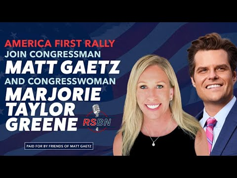 LIVE: America First Rally with Rep. Gaetz and Rep. Greene in The Villages, FL 5/7/21