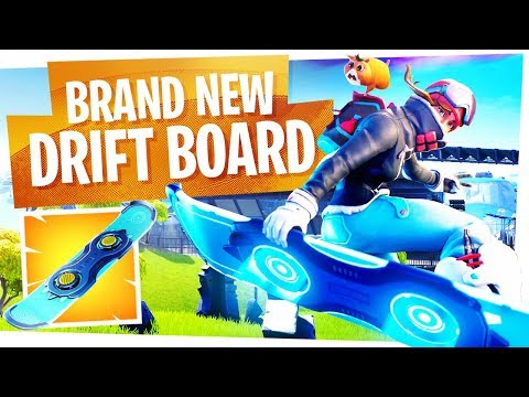 FIRST LOOK at the NEW DRIFTBOARD in Fortnite! - The Drift Board Gameplay is finally here... thumbnail