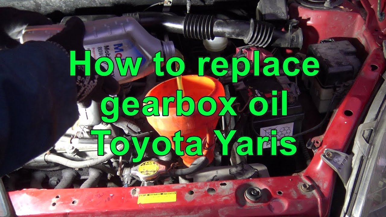 When To Get An Oil Change >> How to replace gearbox oil Toyota Yaris. Years 1999 to 2017 - YouTube