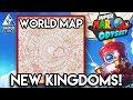 Super Mario Odyssey ALL KINGDOMS Analysis - New Kingdoms + World Map