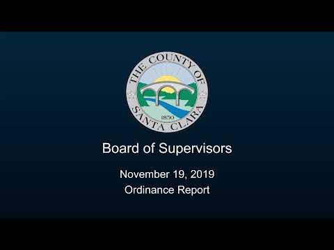 Santa Clara County Board Of Supervisors November 19, 2019 9:30 AM