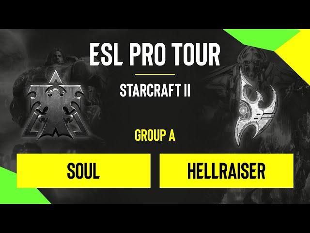 SC2 - souL vs. Hellraiser - DH SC2 Masters - Summer 2020 - Group A - EU