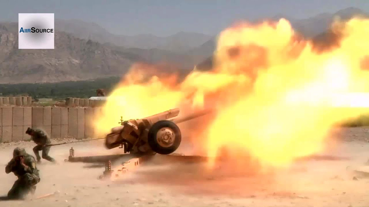 Afghans Training On The Soviet 122 Mm Howitzer 2a18 D 30
