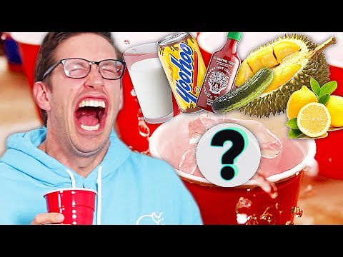 The Try Guys Play Beer Pong With Gross Drinks